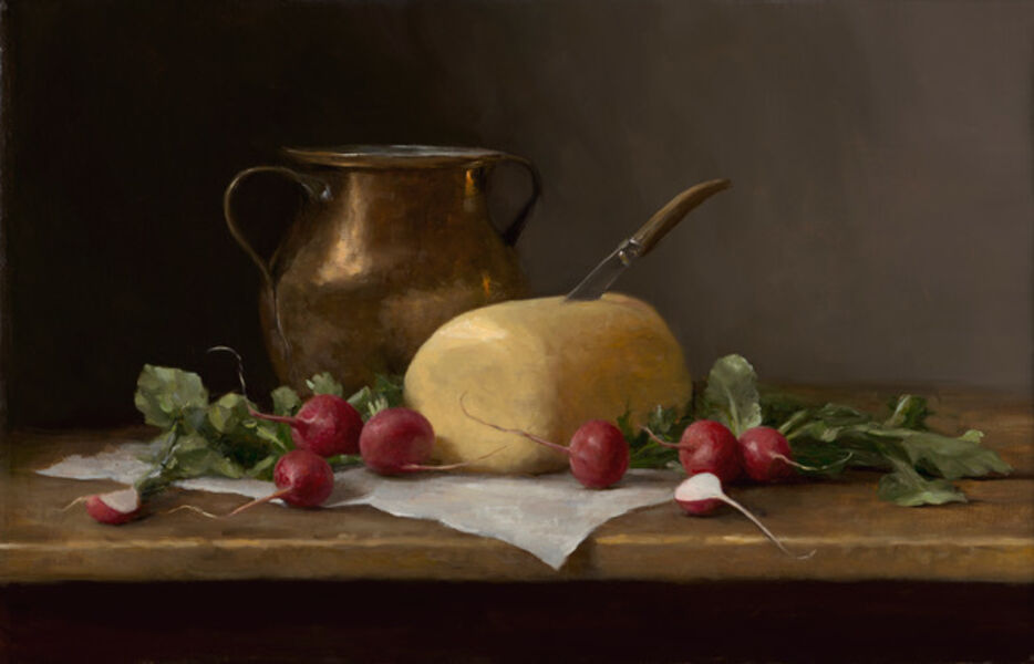 Sarah Lamb, 'Radishes and Amish Rolled Butter', 2019