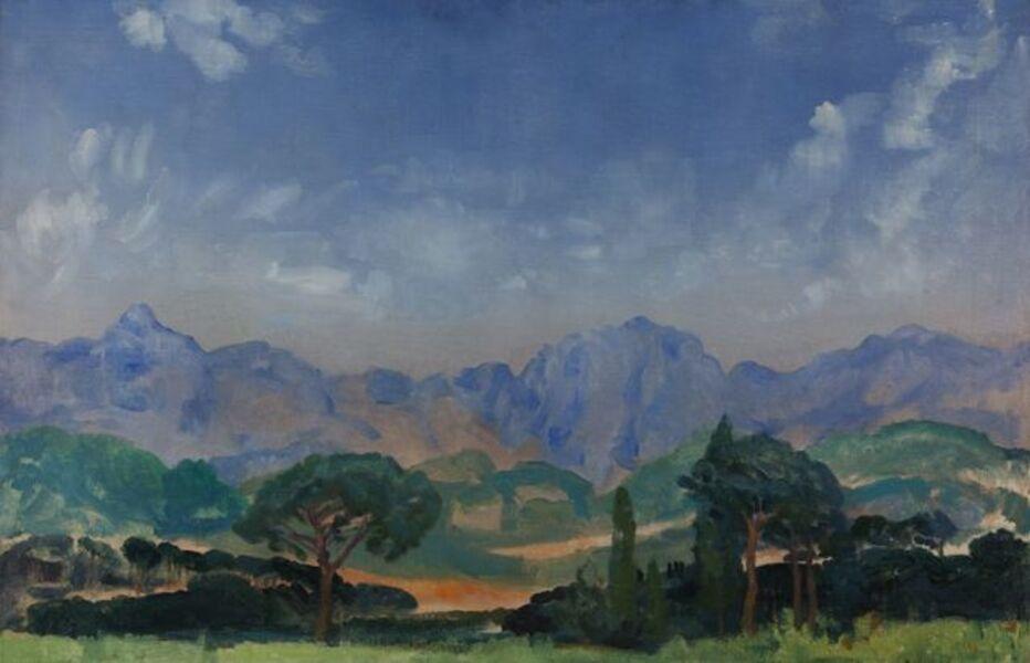 Arthur Bowen Davies, 'Italian Landscape'