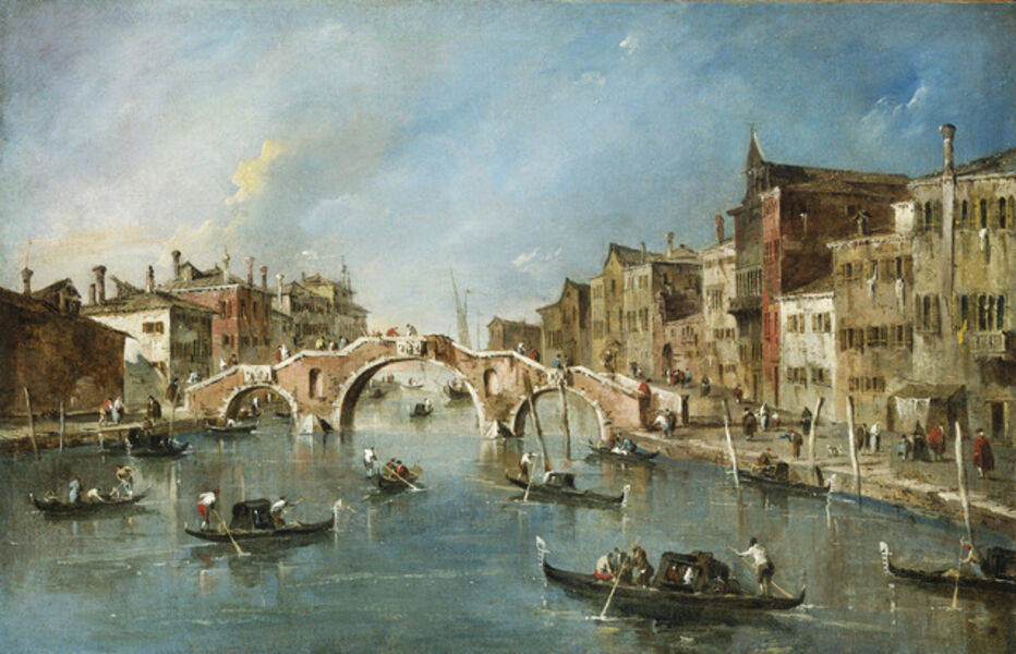 Francesco Guardi, 'View on the Cannaregio Canal, Venice', ca. 1775-1780