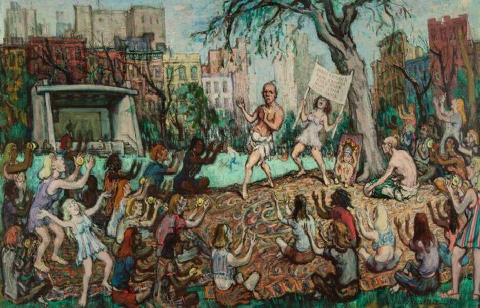 Philip Reisman, 'Hindus in the Park', 1967
