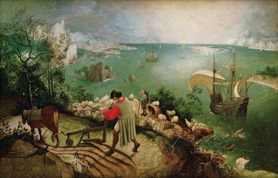 Pieter Bruegel the Elder, 'The Fall of Icarus', ca. 1555-56