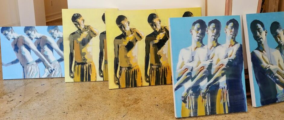 Mark Horst: Painting the Male Form, installation view