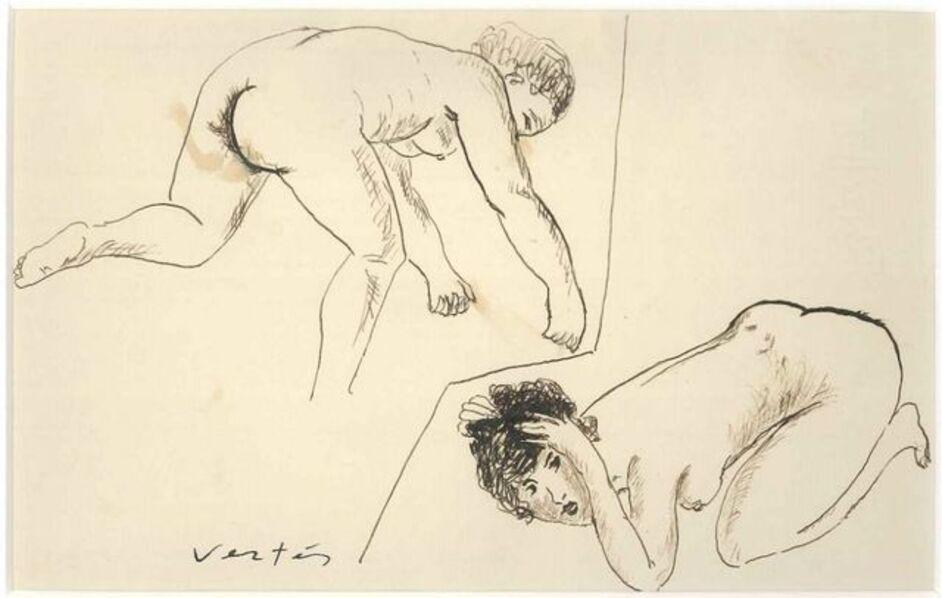 Marcel Vertes, 'Female Nudes', Not dated