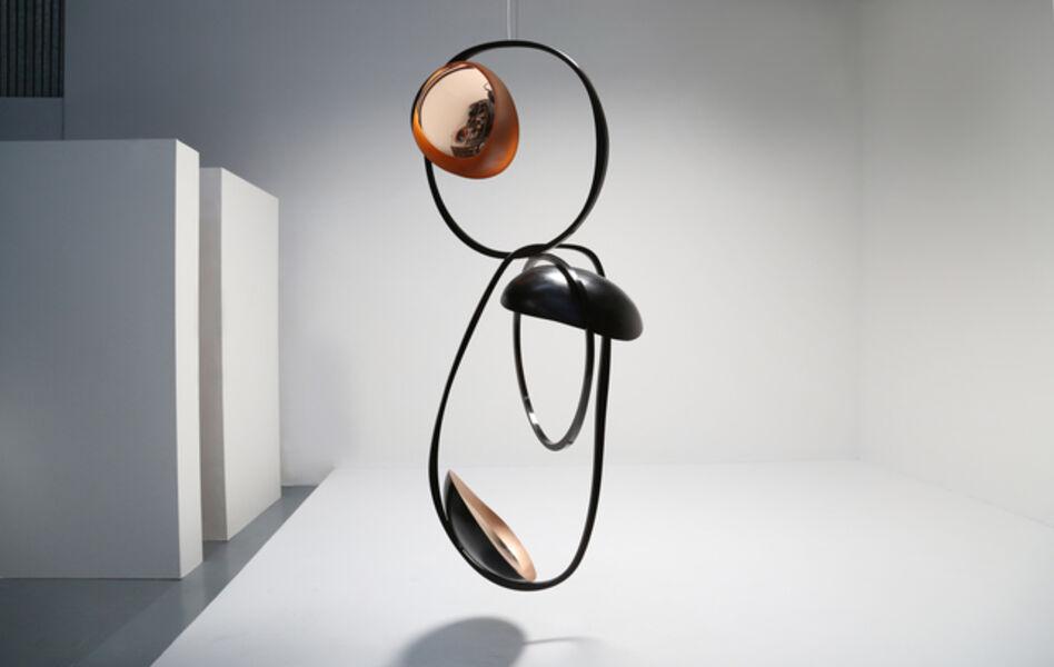 "Niamh Barry, '""Black Poise,"" Suspended Light Sculpture', 2016"