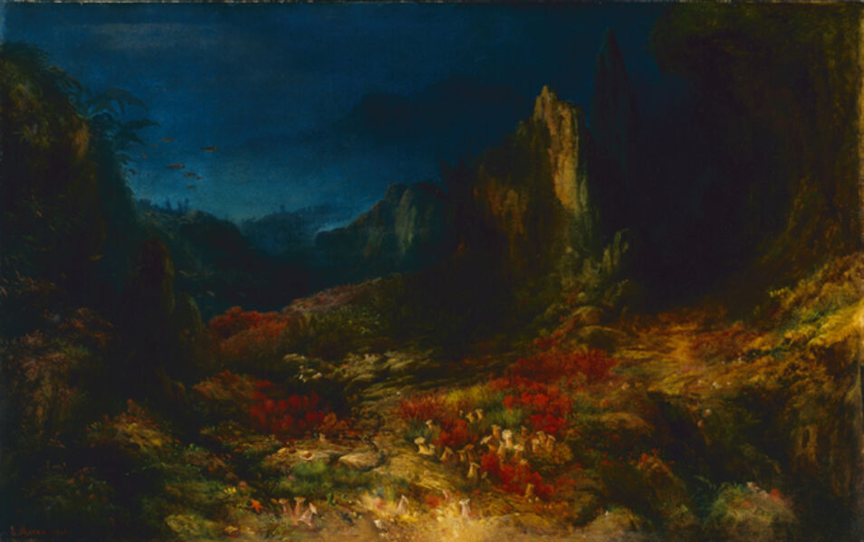 Edward Moran, 'The Valley in the Sea', 1862