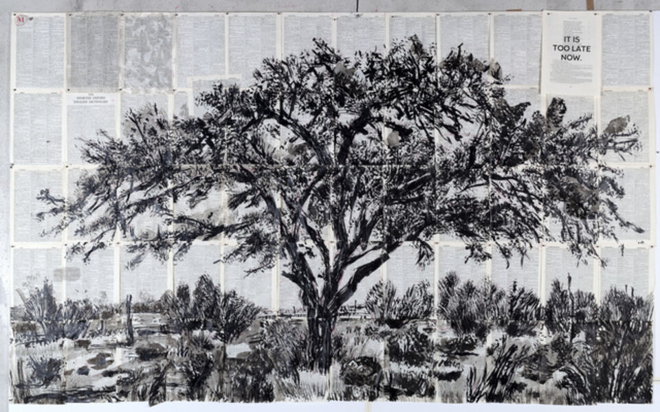 William Kentridge, 'Drawing for Waiting for the Sibyl (It's too late now)', 2019