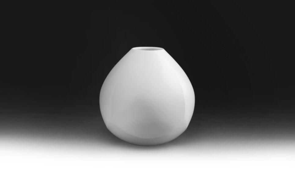 Maeta Akihiro, 'White Porcelain Faceted Jar', 2017