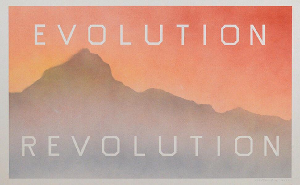 Ed Ruscha, 'Evolution Revolution', 2013