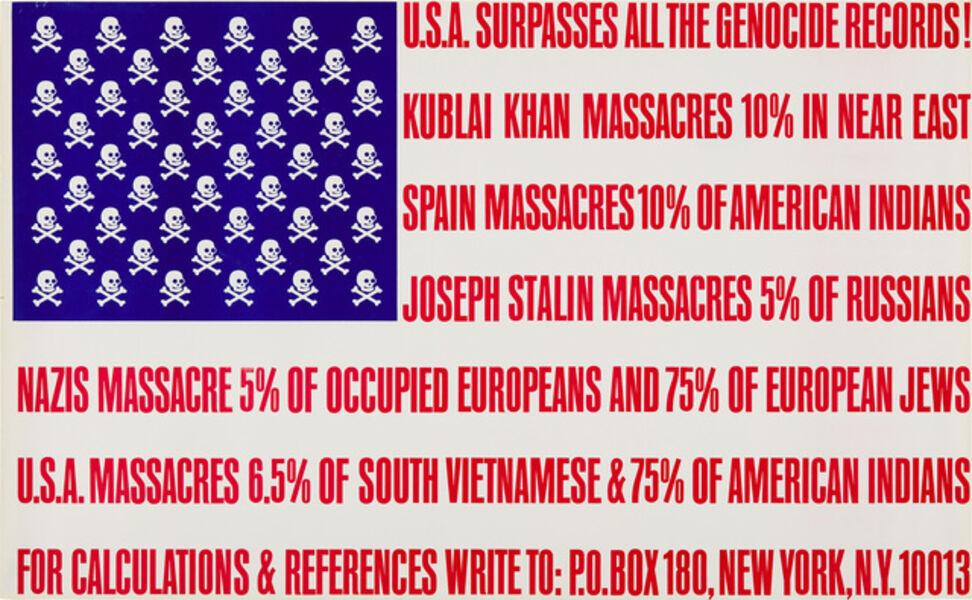 George Maciunas, 'U.S.A Surpasses All the Genocide Records', 1966