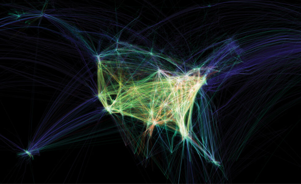 Aaron Koblin, 'Flight Patterns', 2009