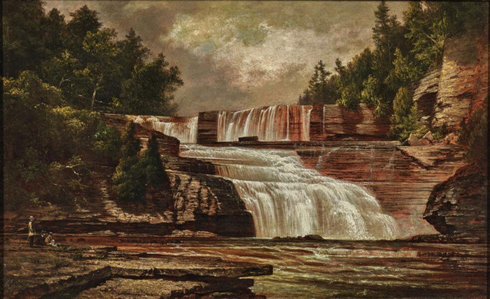 David Johnson, 'Figures by Trenton Falls'