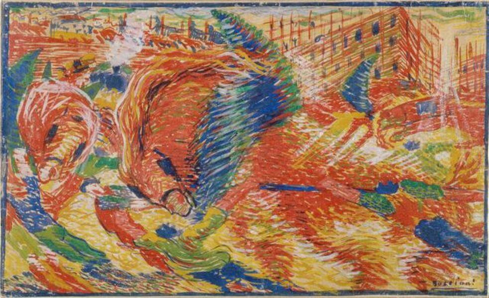 Umberto Boccioni, 'The city rises', 1910
