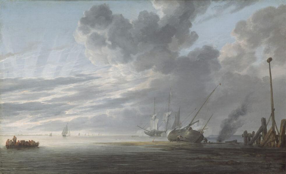 Simon de Vlieger, 'Estuary at Dawn', ca. 1640/1645