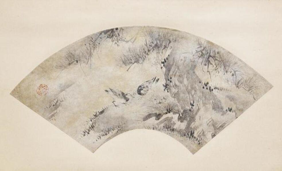 Kano Eitoku, 'Birds and Pine Tree', about 1570-1590