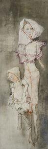 Jean Jansem, 'Les deux poupées roses', 1972