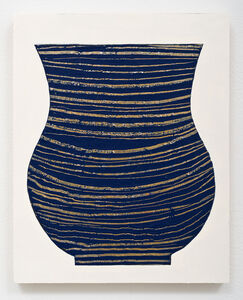 Untitled Vase (Blue and Gold)