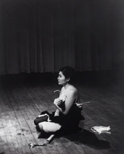 Cut Piece (1964) performed by Yoko Ono in New Works of Yoko Ono, Carnegie Recital Hall, New York, March 21, 1965