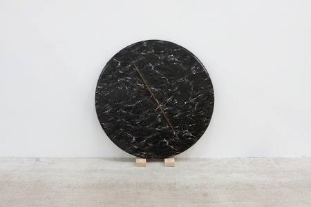 Round Faux Marble
