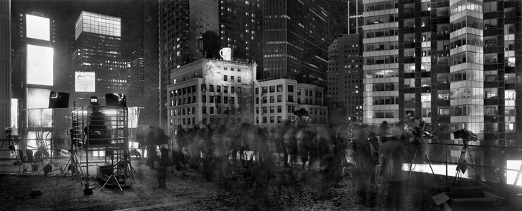 Above Times Square, New Years Eve, From the Marriott Marquis, New York - diptych (TV12535)