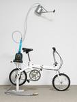 Rirkrit Tiravanija, Untitled (bicycle shower), 2010. Photo by Nick Ash, © the artist and H.M. Kolsterfelde Edition. Courtesy of H.M. Klosterfelde Edition.
