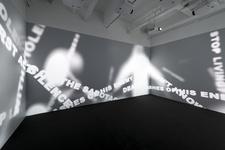 """Installation view of """"Tsang Kin-Wah,N̶o̶t̶h̶i̶n̶g̶,"""" at M+ Pavilion, Hong Kong. © Tsang Kin-Wah. Courtesy of the artist and M+."""