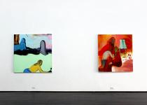 Installation view of work by Heidi Hahn. Photo courtesy of Jack Hanley Gallery.