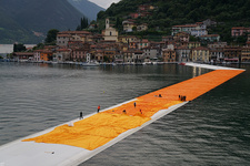 Christo and Jeanne-Claude,The Floating Piers, Lake Iseo, Italy, 2014-16. Photo: Wolfgang Volz, © 2016 Christo