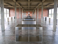 Work by Donald Judd at the Chinati Foundation. Photo by Paul Joseph, via Flickr.