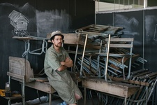 Kemang Wa Lehulere in his Cape Town studio. Photo by DNA Photographers for Artsy.