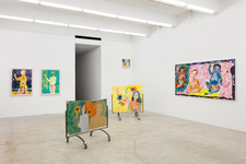 """Installation view of """"Alex Chaves: The Rose Period"""" at Martos Gallery. Photo courtesy of Martos Gallery."""