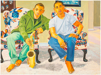 Jordan Casteel, Crockett Brothers, 2015. Image courtesy of the artist.