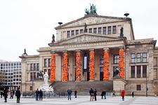 Ai Weiwei, Safe Passage, 2016, at Konzerthaus Berlin. Courtesy of Lisson Gallery