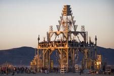 Burning Man, Temple, 2008. Photo by Scott Londonfrom the bookBurning Man: Art on Fire(Race Point, 2016).