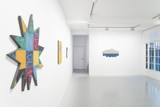 "Installation view of Rhys Coren, ""click, click, click-clap-click,"" 2016. Courtesy of galeriepcp, Paris."