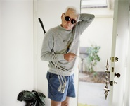 "Larry Sultan, Dad with Golf Clubs, from the series ""Pictures From Home,"" 1987; chromogenic print; © Estate of Larry Sultan; photo: courtesy Casemore Kirkeby and Estate of Larry Sultan"