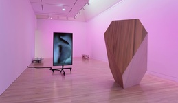 """Installation view of work byShahryar Nashat at """"Made in L.A. 2016: a, the, though, only,"""" Hammer Museum, Los Angeles. Photo: Brian Forrest."""