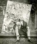 Max Ernst sitting, Impasse Rodin, 1954. Photo: Douglas Glass, © J.C.C. Glass.Photo courtesy of Paul Kasmin Gallery.
