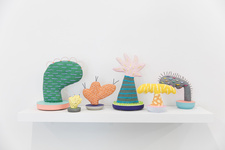 Installation view of The Cartoon Plant Sculptures by Adam Frezza and Terri Chiao, Courtesy of Children's Museum of the Arts and Will Ellis.
