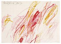 Cy Twombly, Sans Titre (Grottaferrata), 1957. © Galerie Karsten Greve.Courtesy of Centre Pompidou.