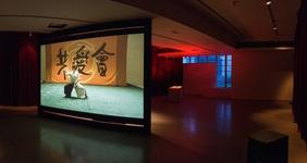 "Installation view of ""Wu Tsang: Duilian,"" 2016. Courtesy of the artist and Spring Workshop, Hong Kong. Photo: MC"