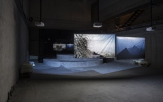 Installation view of work by Hito Steyerl at the Berlin Biennale. Photo: Timo Ohler, Berlin Biennale