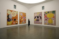 """Installation view of """"Hilma af Klint: Painting the Unseen"""" at Serpentine Gallery, London (2016). Image © Jerry Hardman-Jones. Courtesy of Serpentine Galleries."""