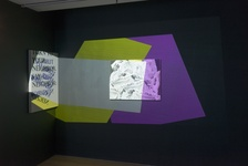 """Installation view of """"Tenses: Artists in Residence 2015–16: Jordan Casteel, EJ Hill, Jibade-Khalil Huffman"""" at The Studio Museum in Harlem. Photo by Adam Reich, courtesy of The Studio Museum in Harlem."""