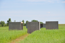 Work by Donald Judd at the Chinati Foundation. Photo by Ethan I. Bennett, via Flickr.