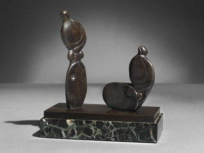 Seated and Standing Figures