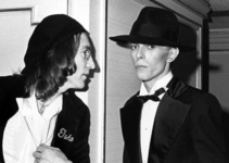 John Lennon and David Bowie at the Grammy Awards, New York