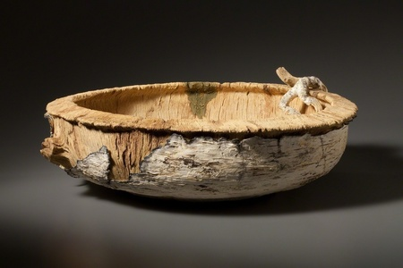 Big Bleached Blonde Birch Bowl