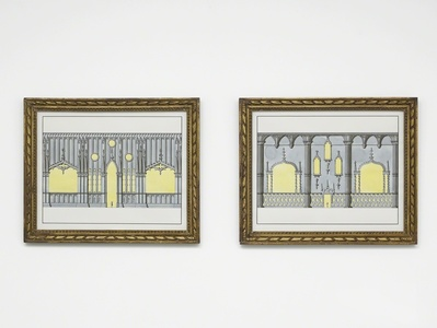 Two Neo-Gothik wall treatments