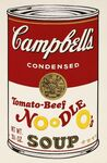 Tomato-Beef Noodle O's, From Campbell's Soup II (F.&S. II.61)