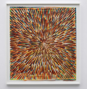 Inversion visions (Blue, fluorescent orange, fluorescent yellow, rust, and gold)